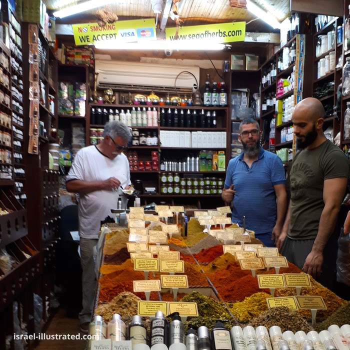 Spice shop in the Old City of Jerusalem