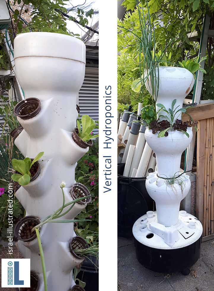 Vertical Hydroponic herb towers