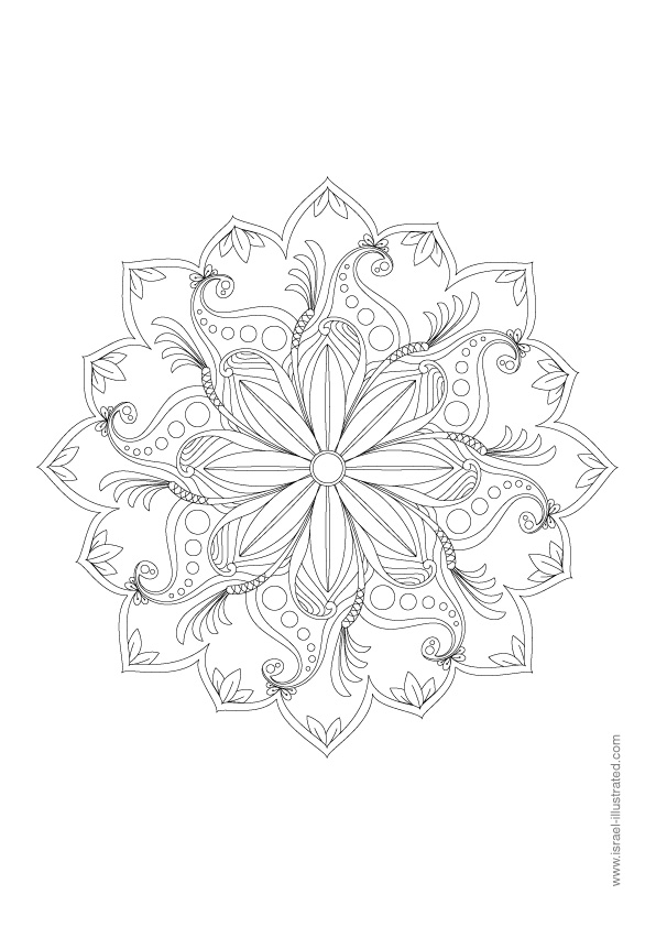 Free Mandala Coloring Pages Spring Flowers