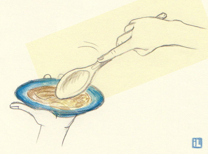How to plate Hummus