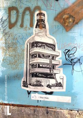 Bauhaus Jack Daniels bottle