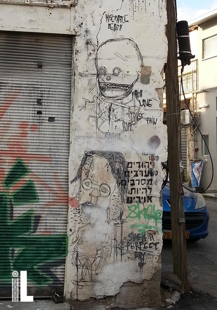 Peace graffiti in Israel: