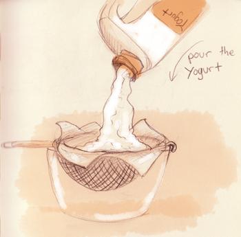 pour yogurt