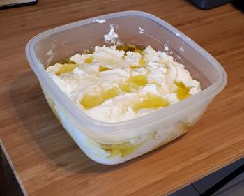 home-made Labane cheese
