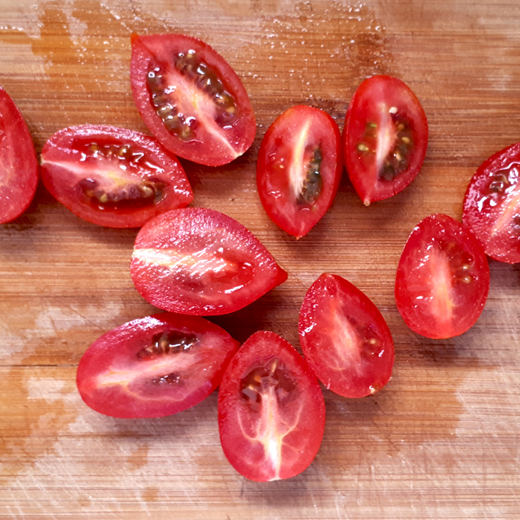 Sliced cherry tomatoes