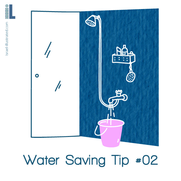 Collect the cold water in the shower, while you wait for the hot water to arrive!