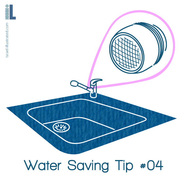An Extremely Effective way to save water: Install a faucet aerator.