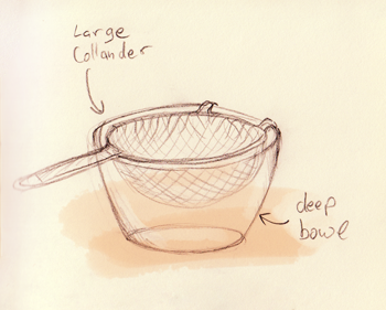 place colander in bowl