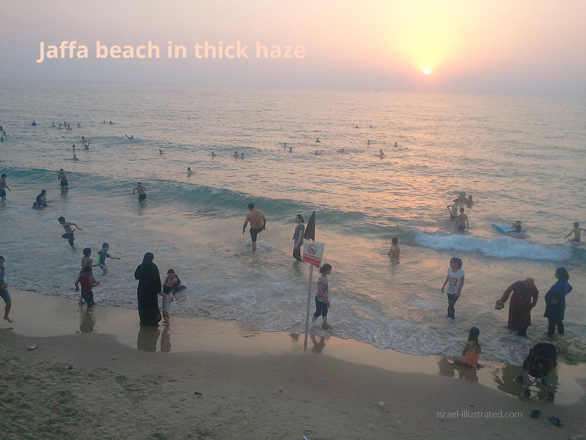 Severe Haze in Jaffa beach